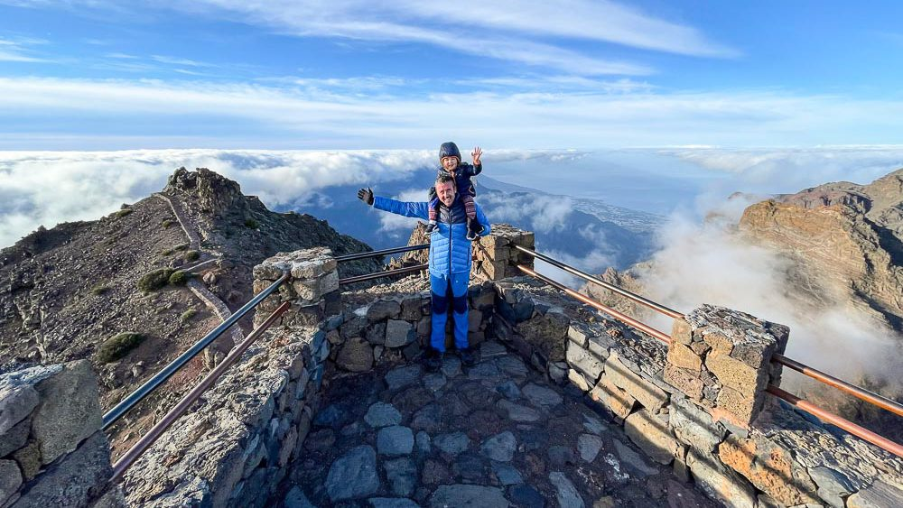 Viewpoint from top of the volcano in La Palma