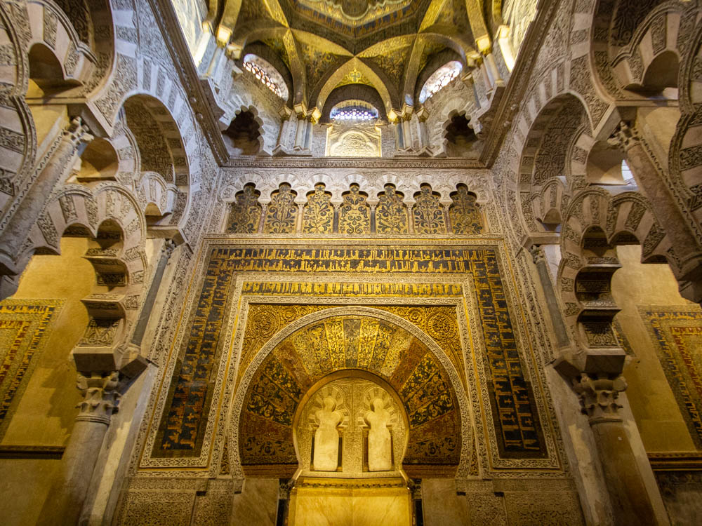Mihrab of the former mosque of cordoba