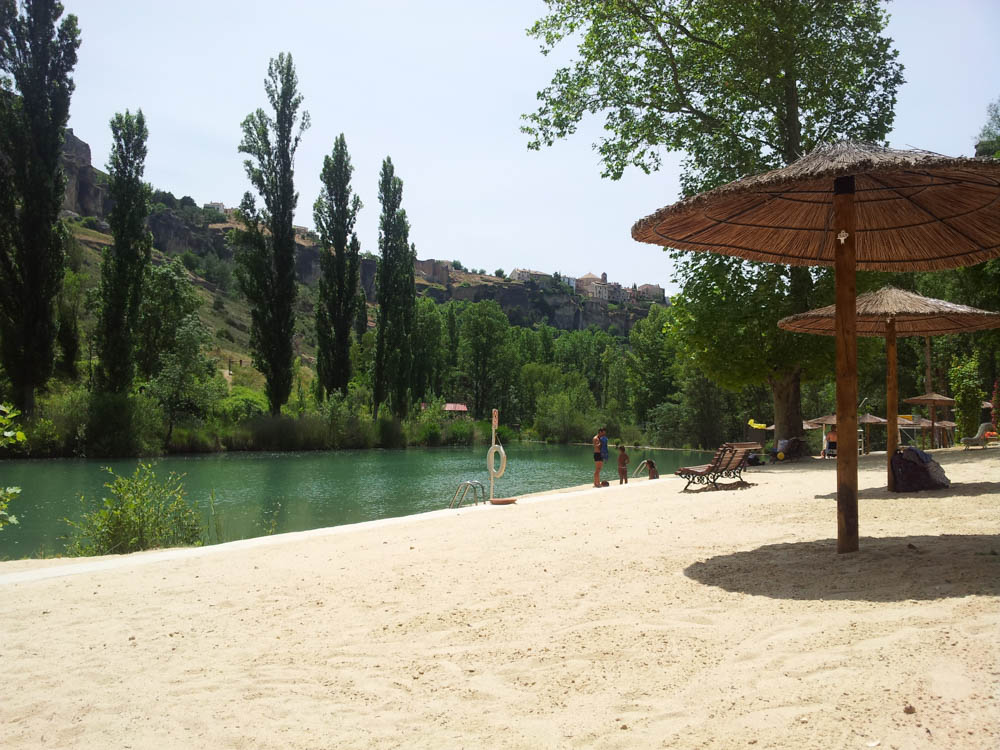 sand beach by the river in Cuenca