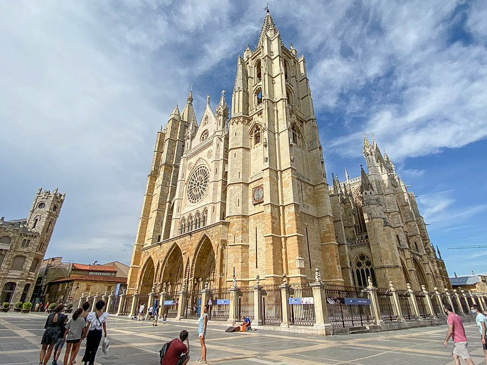 cathedral seen from the square