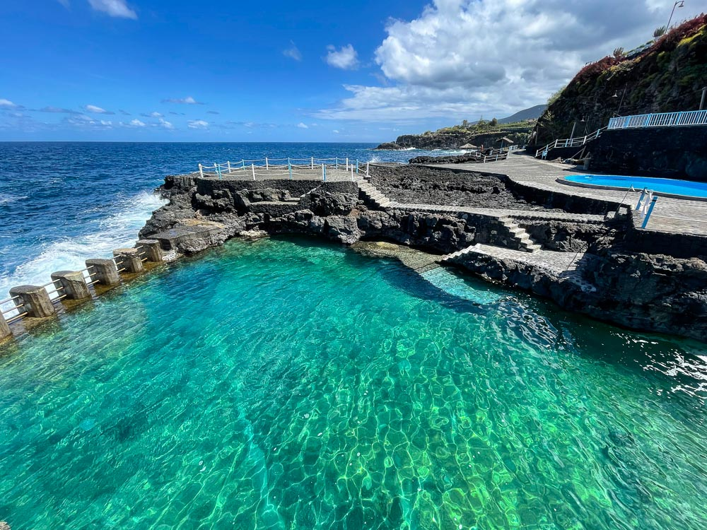 Natural pool by the ocean