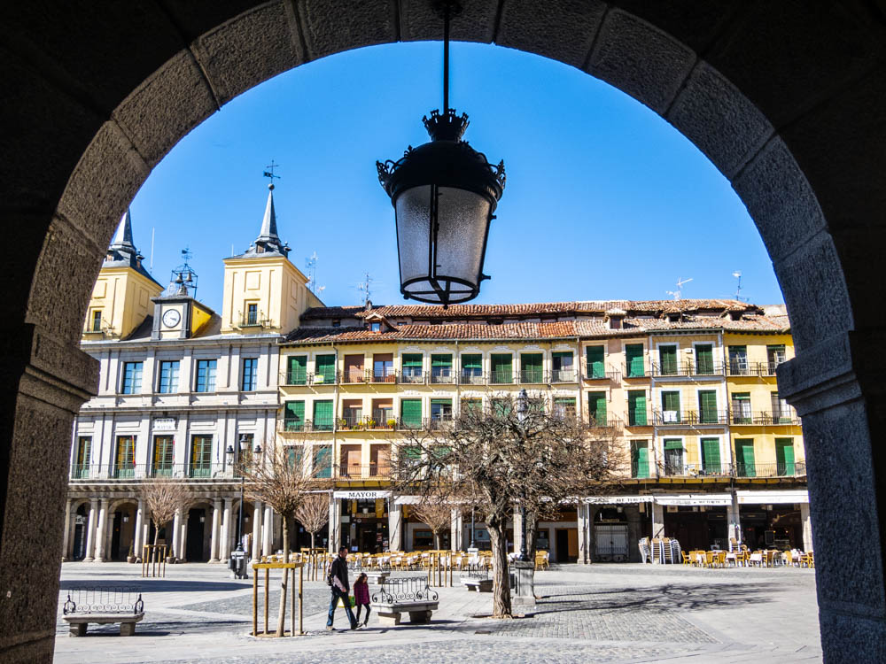 Plaza Mayor with arches