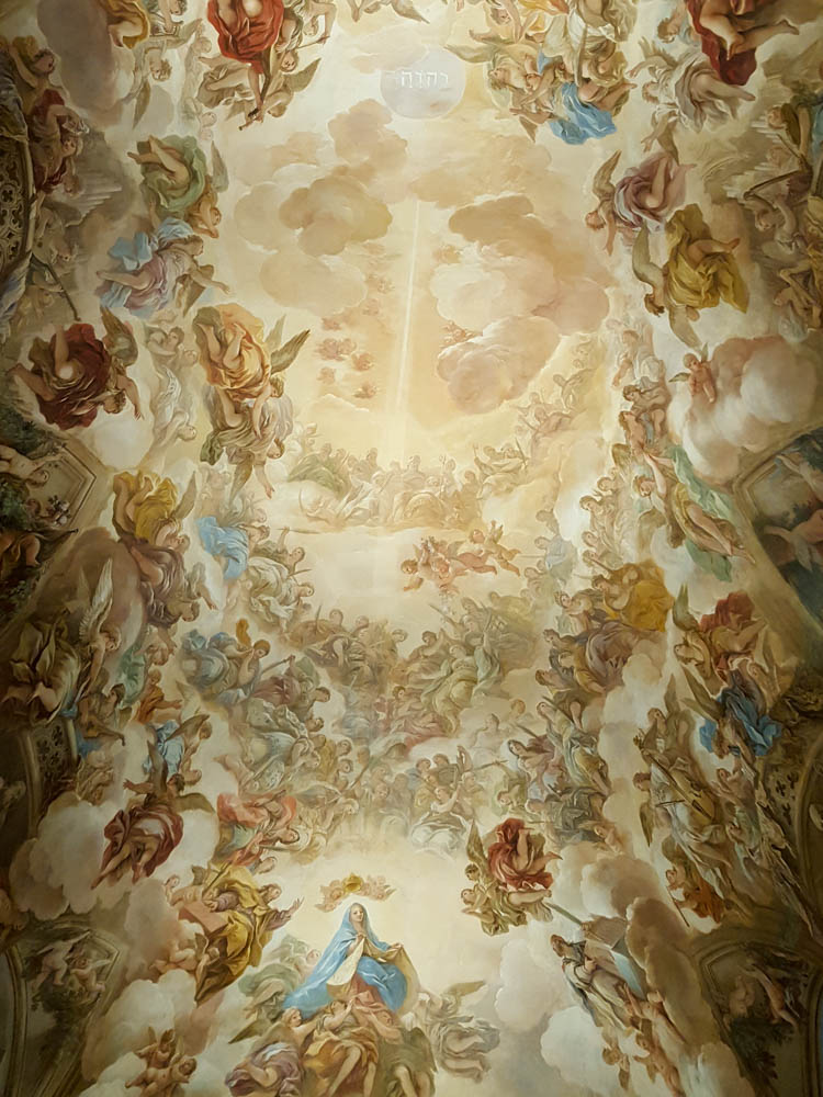 Painted ceiling in the Sacristy