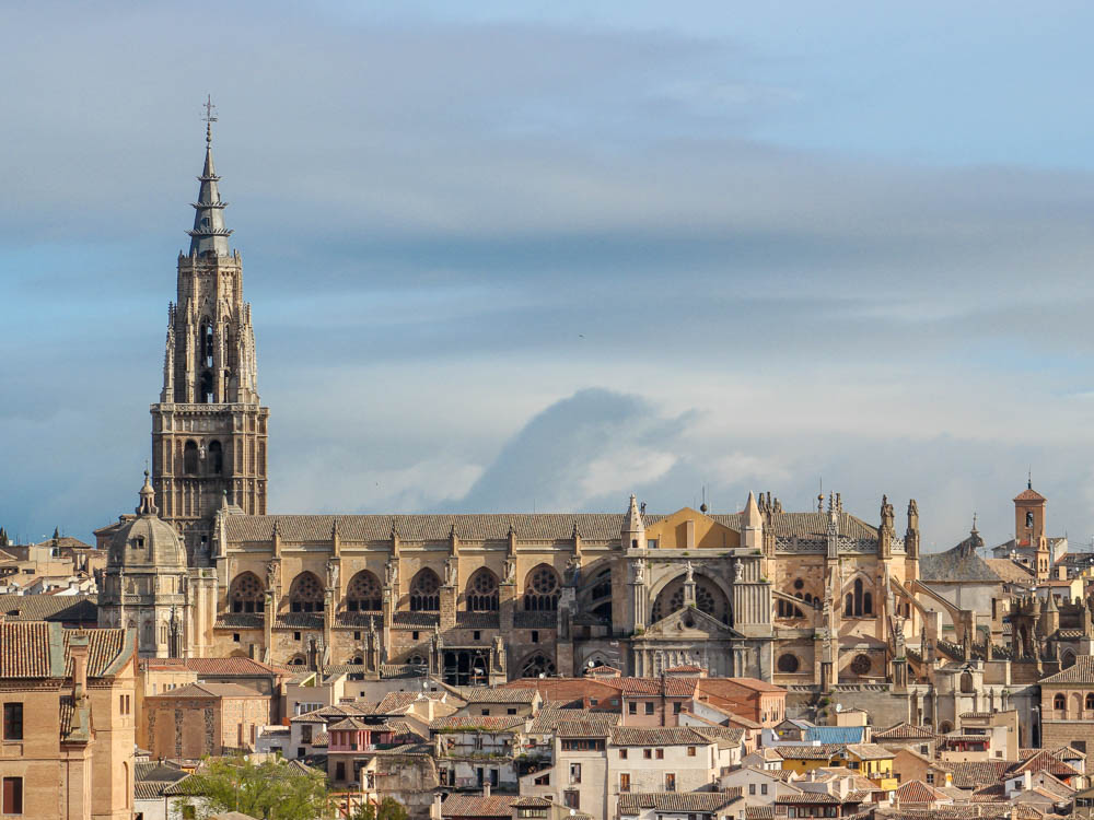 View of Toledo's Cathedral from a viewpoint