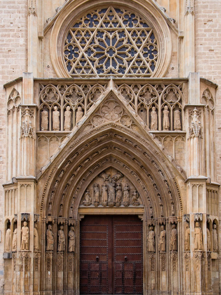 gate of Valencia's Cathedral