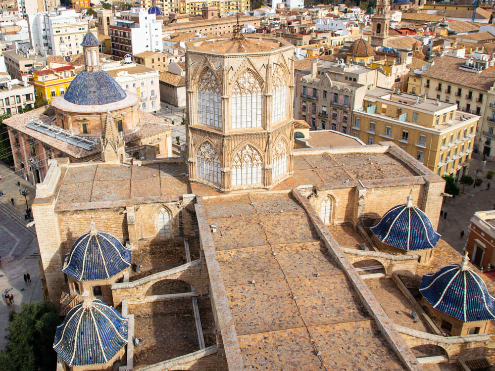 Roofs of the catheral view from its belltower