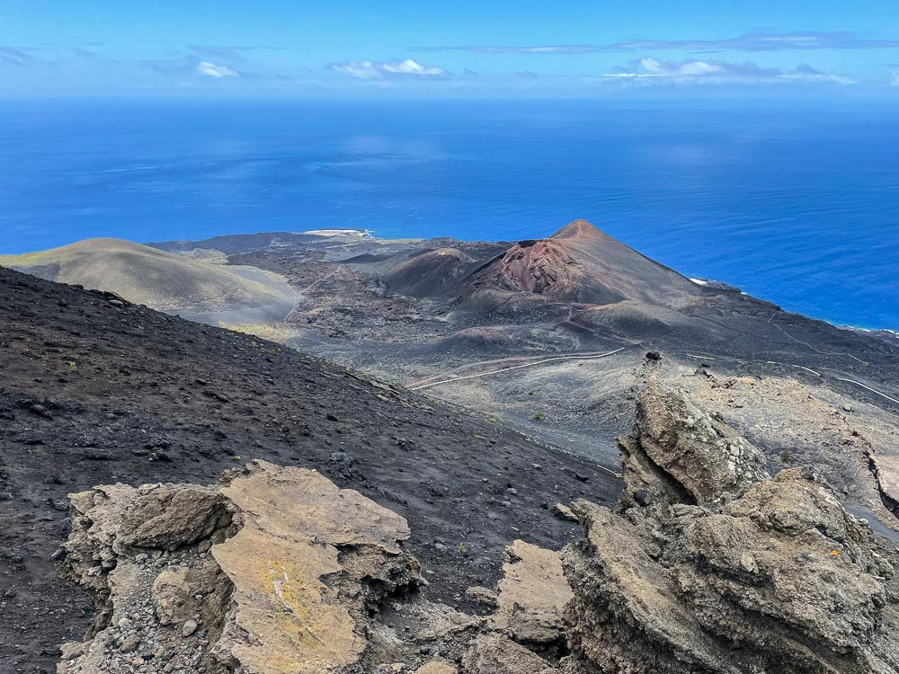 Volcanos and ocean views from the hiking trail